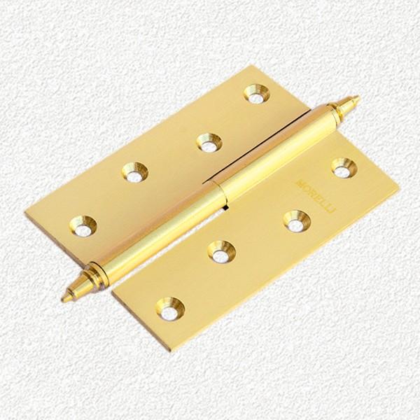 Петля MORELLI латунная с короной-MB-100X70X3-SG