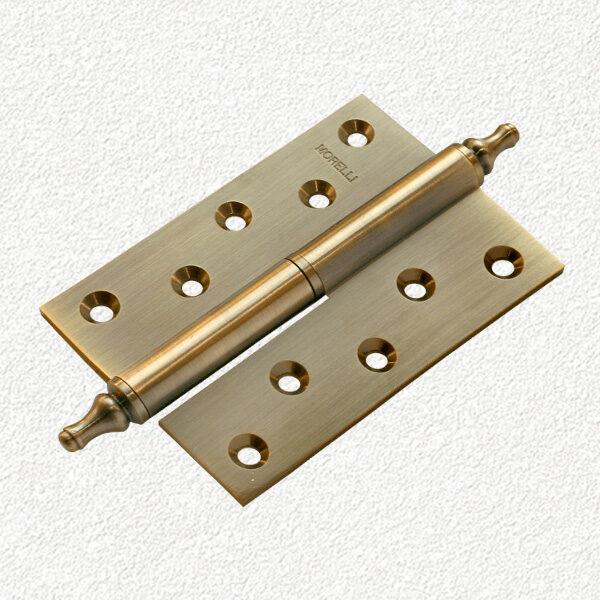 Петля MORELLI латунная с короной-MB-120X80X3.5-AB